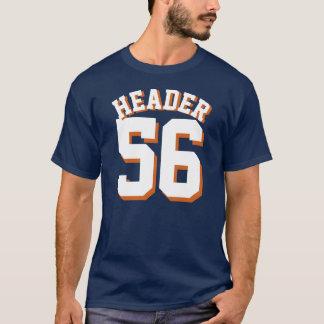濃紺及び白の大人|のスポーツのジャージーのデザイン Tシャツ