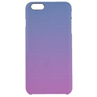 濃紺及び紫色のグラデーション クリア iPhone 6 PLUSケース