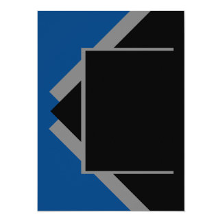 濃紺濃紺の灰色の灰色色用具だけ 14 X 19.1 インビテーションカード