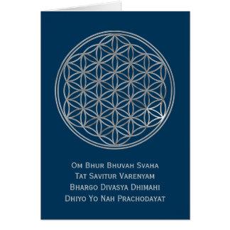 濃紺生命及びGAYATRIの信念|の銀の花 カード
