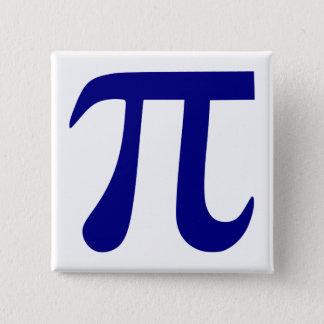 濃紺Piの記号 5.1cm 正方形バッジ