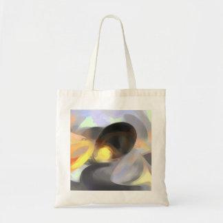 火および氷のパステルの抽象芸術 トートバッグ