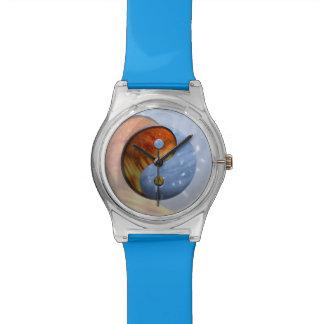 火および氷の陰陽 腕時計