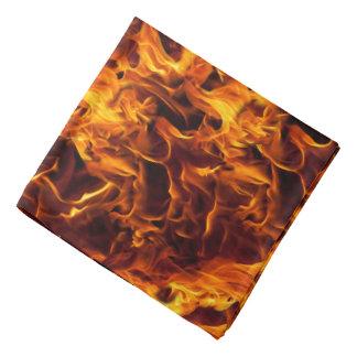 火および炎パターン ハンカチーフ