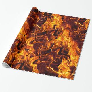 火および炎パターン ラッピングペーパー