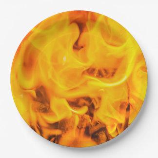 火および炎 ペーパープレート