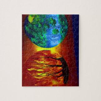 火および生命spraypainting自然のイメージ ジグソーパズル