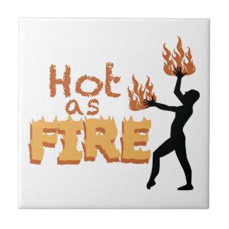 火として熱い タイル