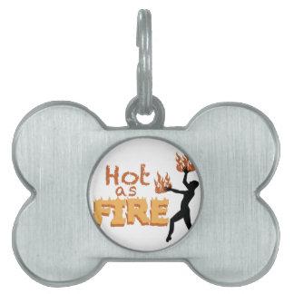 火として熱い ペットネームタグ