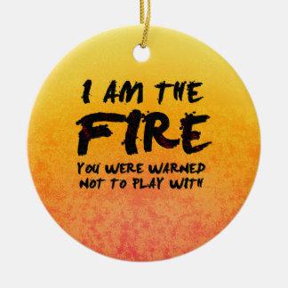火と遊ばないために警告されました セラミックオーナメント