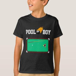 火のように激しくカスタムな色のプールの男の子8つの球のTシャツ Tシャツ
