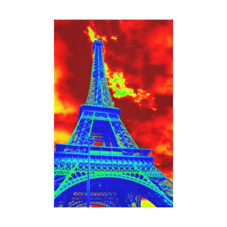 火のエッフェル塔 キャンバスプリント