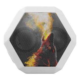 火のオオカミ ホワイトBluetoothスピーカー