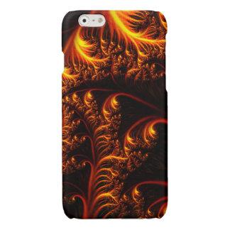 火のカールの箱 光沢iPhone 6ケース