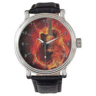 火のギター 腕時計