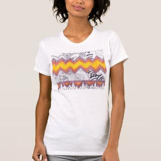 火のジグザグタンク Tシャツ