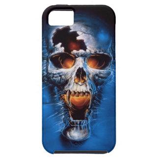 火のスカルのiPhone 5の場合 iPhone SE/5/5s ケース