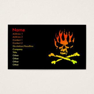 火のスカルビジネスプロフィールカード 名刺