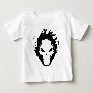 火のスカル ベビーTシャツ