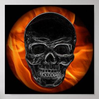 火のスカル ポスター