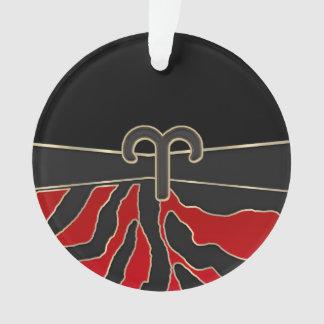 火のトラの(占星術の)十二宮図の印の牡羊座 オーナメント