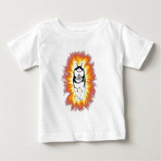 火のハスキー ベビーTシャツ