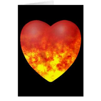 火のハート グリーティングカード
