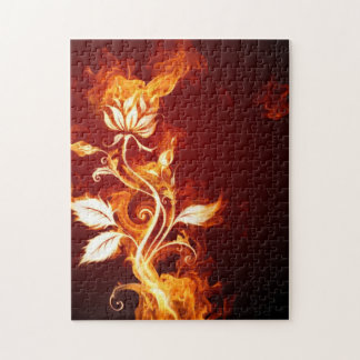 火のバラのパズル ジグソーパズル