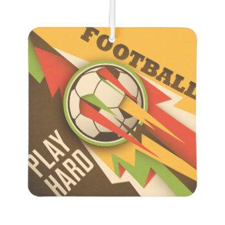火のフットボールのサッカーのスポーツの球 カーエアーフレッシュナー
