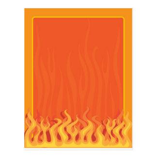 火のボーダー ポストカード