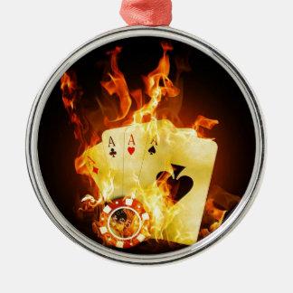 火のポーカー用のチップカード メタルオーナメント