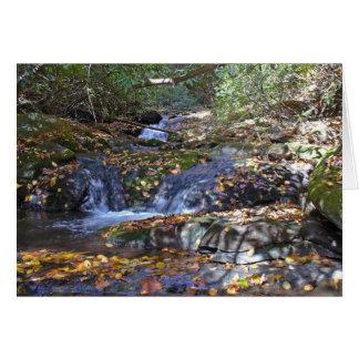 火の入り江の秋の滝 カード