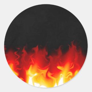火の地獄からのギフト ラウンドシール