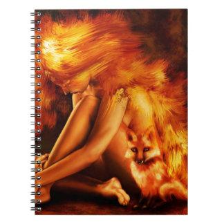 火の女性 ノートブック