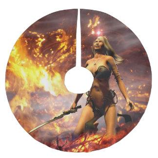 火の女神 ブラッシュドポリエステルツリースカート