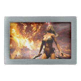 火の女神 長方形ベルトバックル