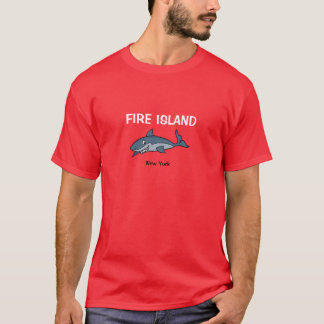火の島のニューヨークの鮫のTシャツ Tシャツ