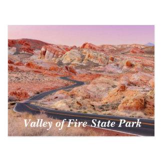 火の州立公園、ネバダの郵便はがきの谷 ポストカード