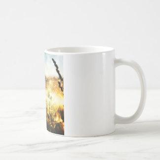 火の抽象的で涼しいムギのくもの巣 コーヒーマグカップ