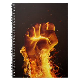 火の握りこぶしのノート ノートブック