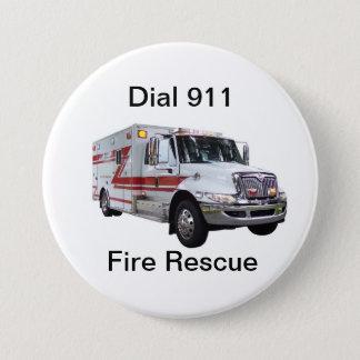 火の救助ボタン 缶バッジ