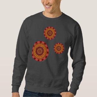 火の曼荼羅の人の暗いワイシャツ スウェットシャツ