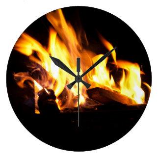 火の柱時計 ラージ壁時計