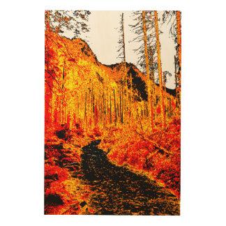 火の森林 ウッドウォールアート