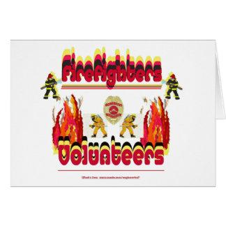 火の消防士のボランティア カード