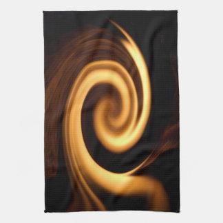 火の渦巻 キッチンタオル