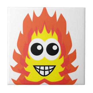 火の漫画 正方形タイル小