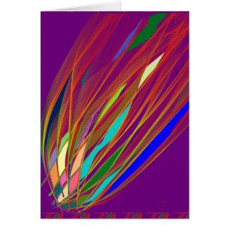 火の火炎信号: お祝いによって手作りされる芸術: 楽しむ カード