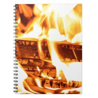 火の炎のデザイン ノートブック