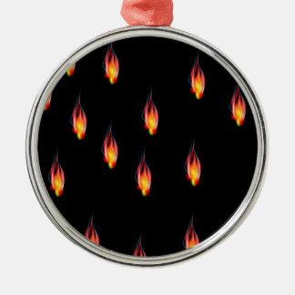 火の炎 メタルオーナメント